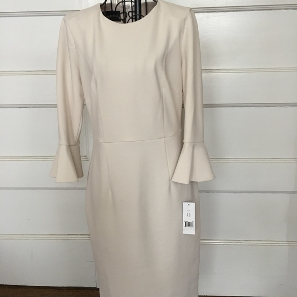 Dona Morgan Dresses & Skirts - DONA MORGAN CREME BELL SLEEVES DRESS SZ 0 NWT